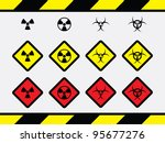 12 bio hazard icons | Shutterstock .eps vector #95677276