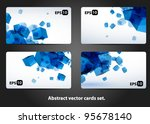 Abstract Vector Gears Cards