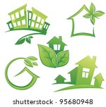 vector set of ecological city...