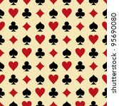 Seamless Poker Background With...