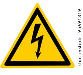 Yellow Sign With High Voltage...