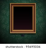 picture frame vector on wall ... | Shutterstock .eps vector #95695036