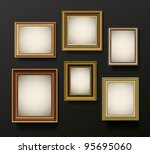 picture frame vector on wall.... | Shutterstock .eps vector #95695060
