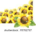 Sunflower Field  Vector...
