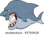shark. cartoon | Shutterstock .eps vector #95703418