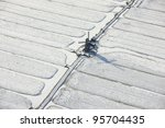 Winter Aerial View Of A...