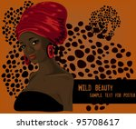 beautiful traditional african...   Shutterstock .eps vector #95708617