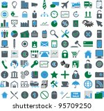 vector illustration of colored... | Shutterstock .eps vector #95709250