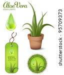 aloe vera  design elements ... | Shutterstock .eps vector #95709373