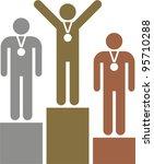 the winners podium   Shutterstock .eps vector #95710288