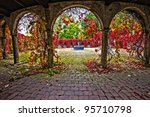 Arch With Red Flowers