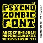psycho zombie font | Shutterstock .eps vector #95712787