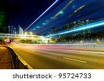 night traffic light trail in... | Shutterstock . vector #95724733