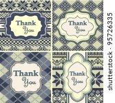 Set Of Vintage Thank You Cards...