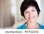 closeup portrait of elegant... | Shutterstock . vector #95732242