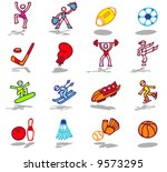 color icons   sports 1 | Shutterstock .eps vector #9573295