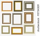 picture frames | Shutterstock .eps vector #95734309