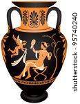 Amphora  Red Figure Vase...