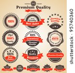 premium quality labels. design... | Shutterstock .eps vector #95740360