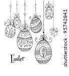 Doodle Decorative Eggs For...
