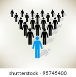 working together team concept.... | Shutterstock .eps vector #95745400