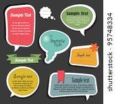 scrapbook speech bubbles text... | Shutterstock .eps vector #95748334