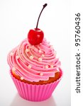 A Cupcake In A Pink Baking Cup...