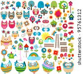 Colorful Garden  Large Set Of...