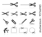 scissors icons set | Shutterstock .eps vector #95766985