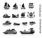 black,boat icon,boat trailer,brigantine,cargo ship,collection,cruise,cruise ship icon,fishing ship,floating,guard ship,helicopter,icons,illustration,inflate boat
