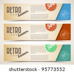 set of retro horizontal banners ... | Shutterstock .eps vector #95773552