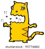 burping cat cartoon | Shutterstock . vector #95776882