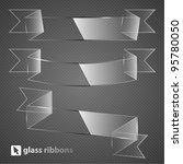 glass ribbons. vector... | Shutterstock .eps vector #95780050
