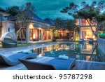 tropical villa | Shutterstock . vector #95787298