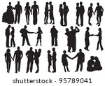 silhouette of falling in love.  ...   Shutterstock . vector #95789041