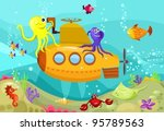 submarine | Shutterstock .eps vector #95789563