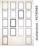 border frame set. vector   Shutterstock .eps vector #95790985