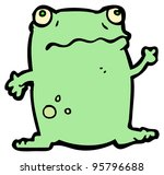 funny frog cartoon | Shutterstock . vector #95796688