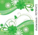 green vector st. patrick day... | Shutterstock .eps vector #95799472