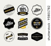 retro vintage styled quality... | Shutterstock .eps vector #95801782