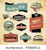 Stock vector premium and high quality label icon 95808511