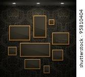 golden frames on the wall.... | Shutterstock .eps vector #95810404