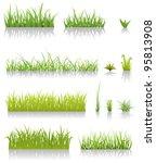 green grass set  illustration... | Shutterstock .eps vector #95813908