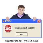 windows error   Shutterstock . vector #95815633