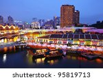 singapore city at night | Shutterstock . vector #95819713