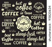 retro coffee badges and labels... | Shutterstock .eps vector #95820634