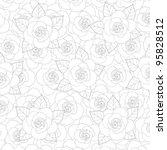 roses background pattern | Shutterstock .eps vector #95828512