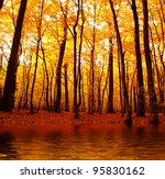 Lake In Autumn Forest....