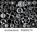 chrome gears and wheels vector...   Shutterstock . vector #95830174