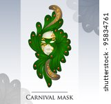 Vector Carnival Mask With...